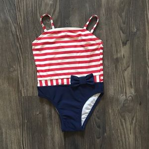 Red/White/Blue One-Piece Bathing Suit